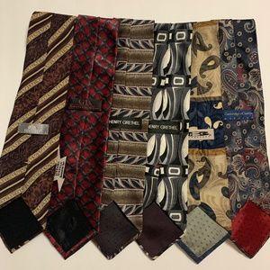 Men's Silk Ties LOT 6 total - Henry Grethel, GD